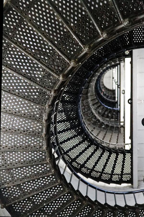 Stairs in t. Augustine Light Station, a lighthouse in St. Augustine, Florida. royalty free stock photography