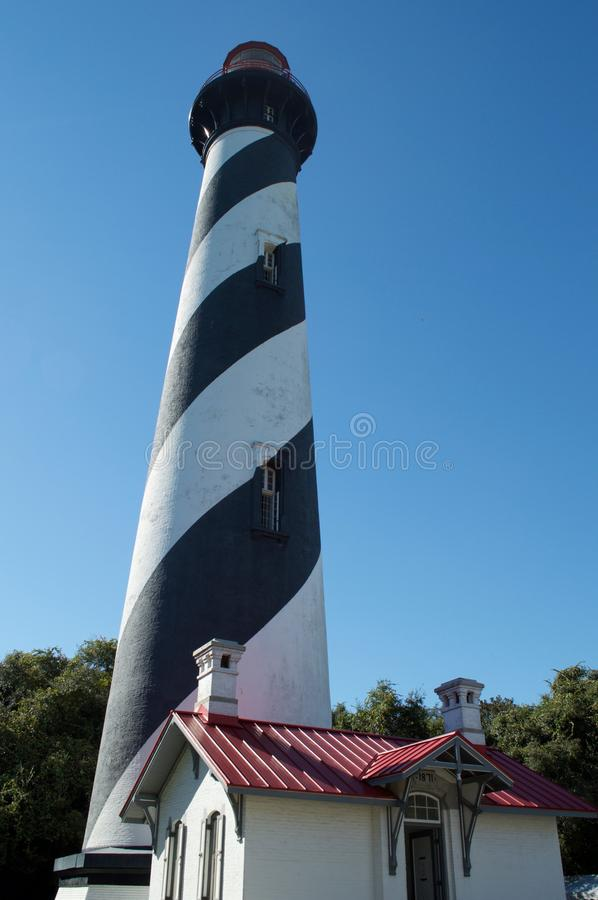 The St. Augustine Lighthouse on a clear day royalty free stock photo