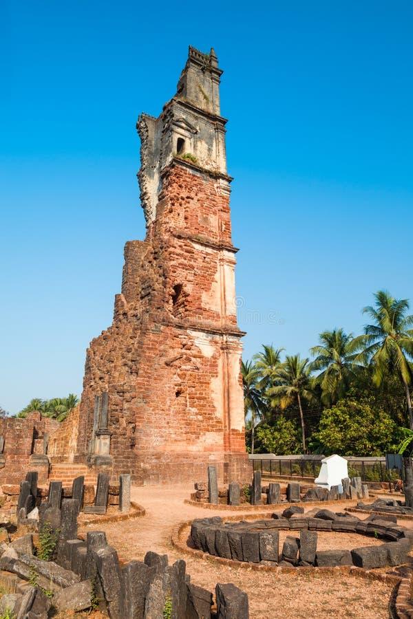 St Augustine ruinierte Kirche, Goa lizenzfreies stockfoto