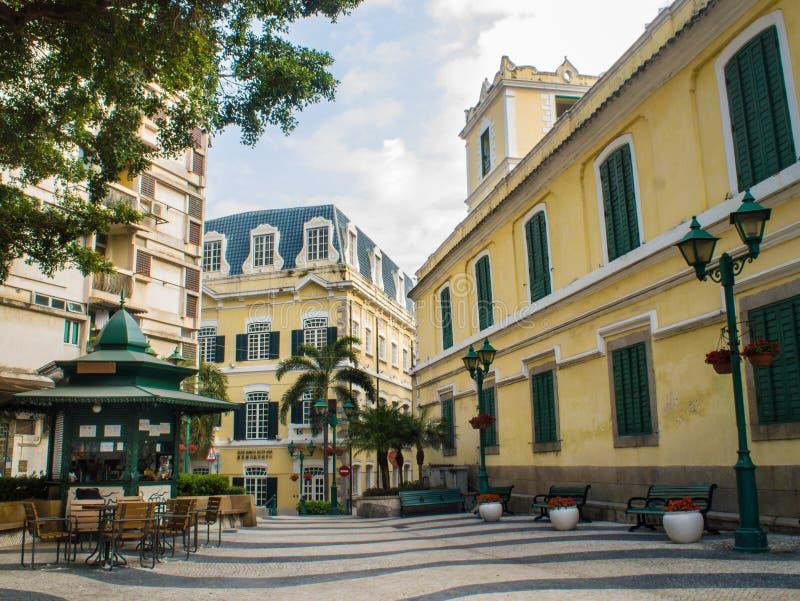 St. Augustine's Church Square, Macau , China. royalty free stock image