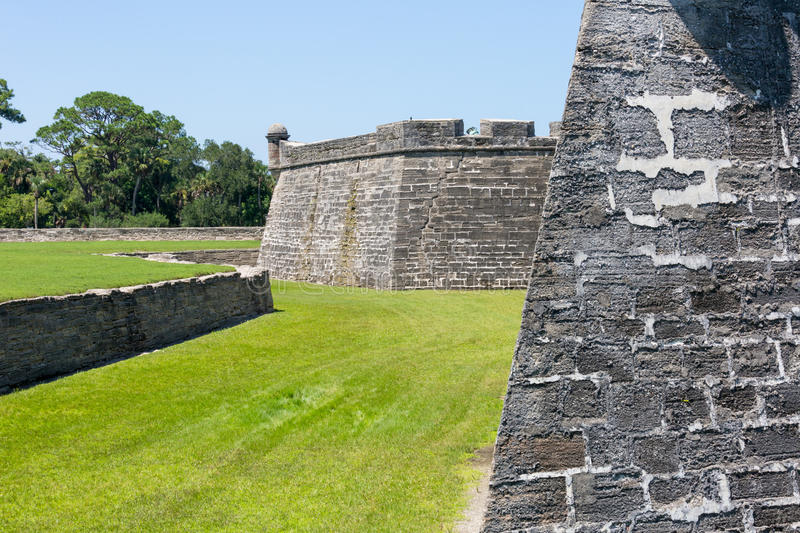 St. Augustine Spanish Fort royalty free stock image