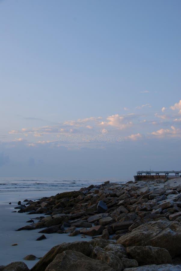 St Augustine strand royaltyfria bilder