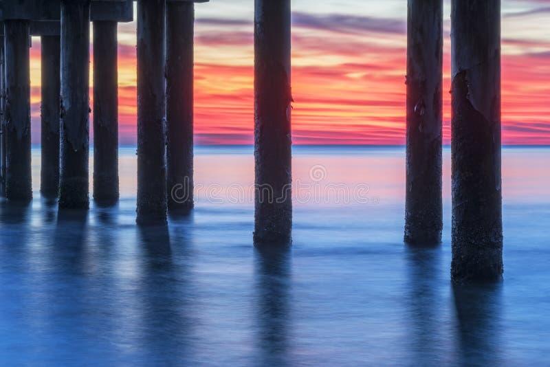 St Augustine Sunrise Under The Pier arkivfoton