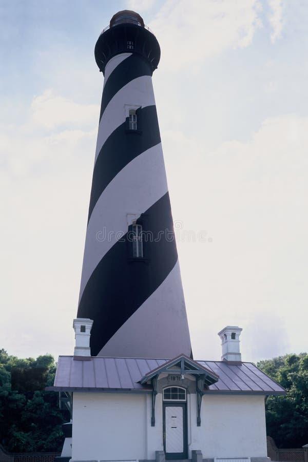 Download St- Augustineleuchtturm stockfoto. Bild von signal, verschiffen - 37936