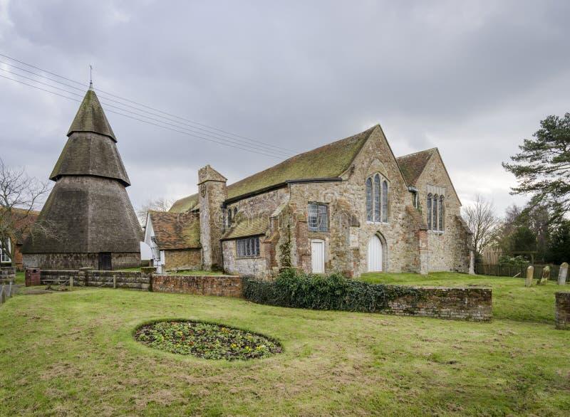 St Augustines kościół, Brookland, Kent zdjęcia royalty free