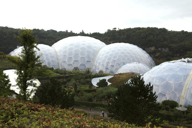 United Kingdom. St. Austell (England), UK - August 14, 2015: Eden Project garden, St. Austell, Cornwall, England, United Kingdom stock photo