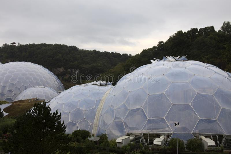 United Kingdom. St. Austell (England), UK - August 14, 2015: Eden Project garden, St. Austell, Cornwall, England, United Kingdom royalty free stock images