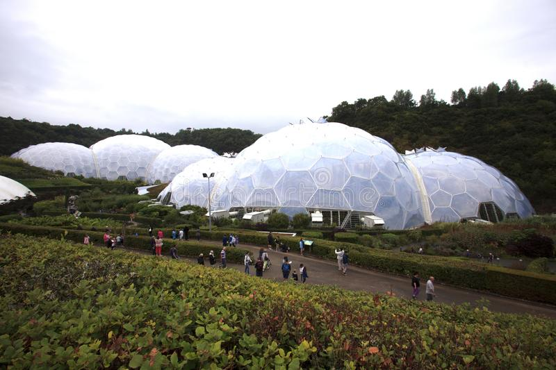 United Kingdom. St. Austell (England), UK - August 14, 2015: Eden Project garden, St. Austell, Cornwall, England, United Kingdom stock photos