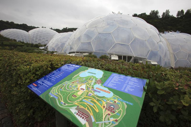United Kingdom. St. Austell (England), UK - August 14, 2015: Eden Project map, St. Austell, Cornwall, England, United Kingdom stock image