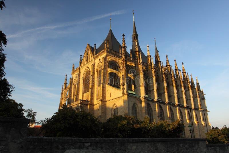 St. Barbara church in Kutna Hora royalty free stock image