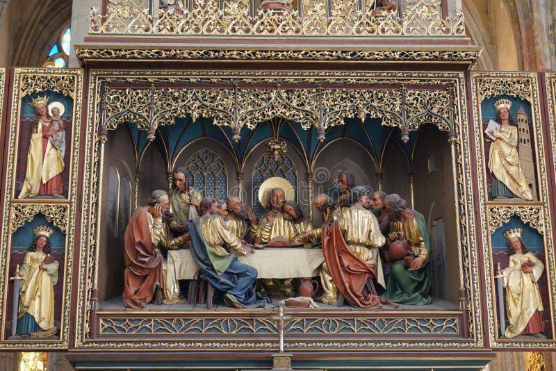 St Barbara - dernier dîner de cathédrale photo libre de droits