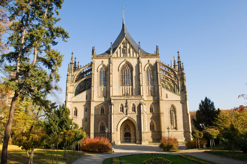 St. Barbara Gothic Cathedral Stock Photo