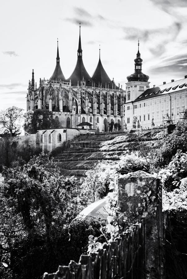 St Barbara Kerk, Kutna kleurloze Hora, Tsjechisch, stock foto's