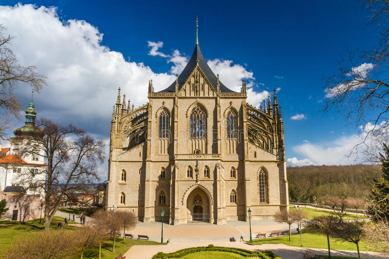 St.Barbara's Church (Cathedral) in Kutna Hora. View Of Saint Barbara's Church (Cathedral of St Barbara) - Kutna Hora, Czech Republic stock photos