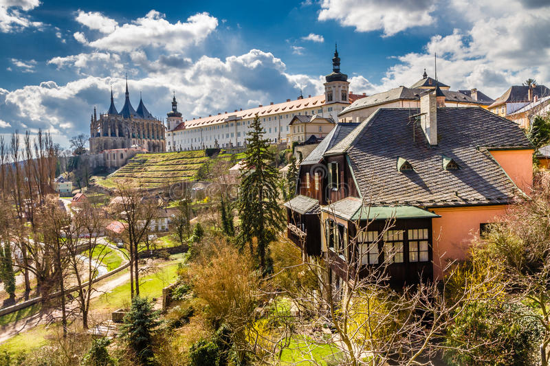 St Barbara's Church And Jesuit College-Kutna Hora. View Of Saint Barbara's Church (Cathedral of St Barbara) And Jesuit College-Kutna Hora,Czech Republic,Europe royalty free stock photo