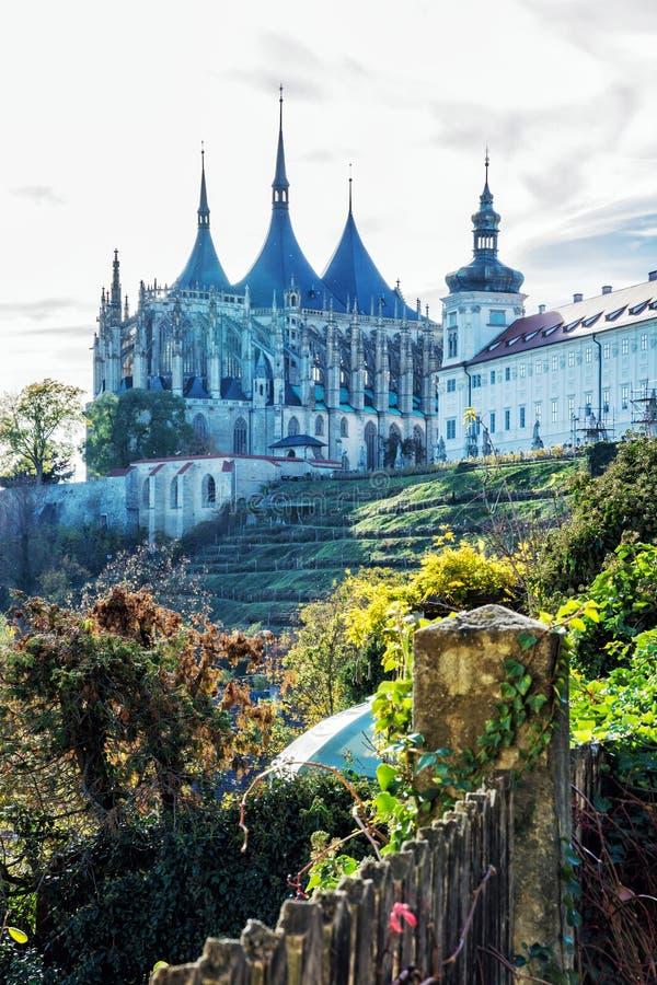 St Barbara ` s Kerk, Kutna Hora, Tsjechische Republiek stock foto