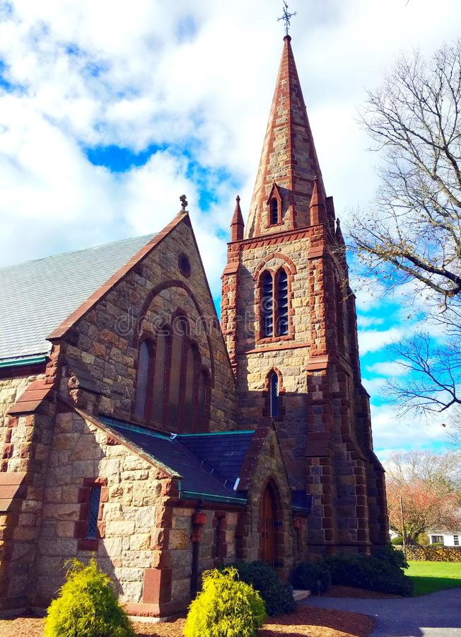 St Barnabas Memorial Church, Falmouth, Massachusetts, Stati Uniti immagine stock libera da diritti