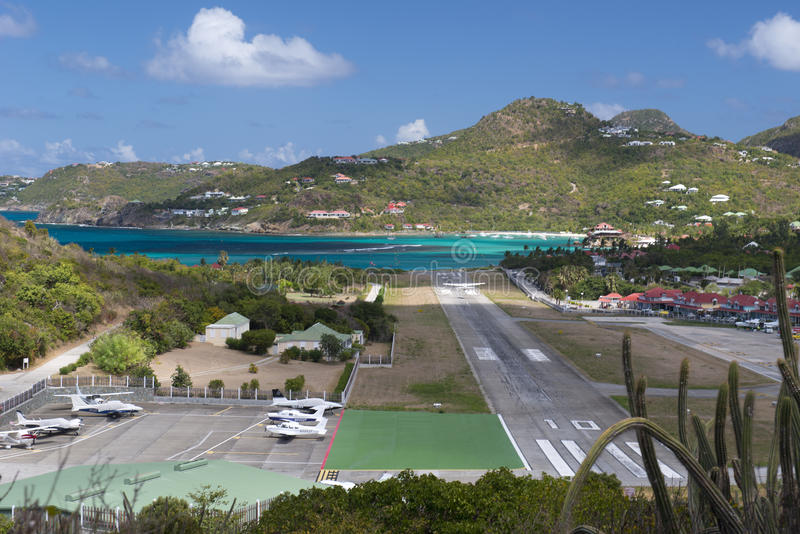 St. Barth Island, Caribbean sea stock photography