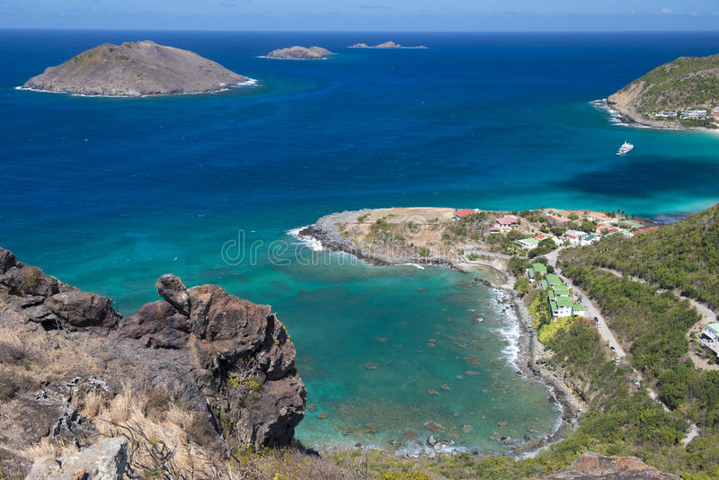 St. Barth Island, Caribbean sea stock photos
