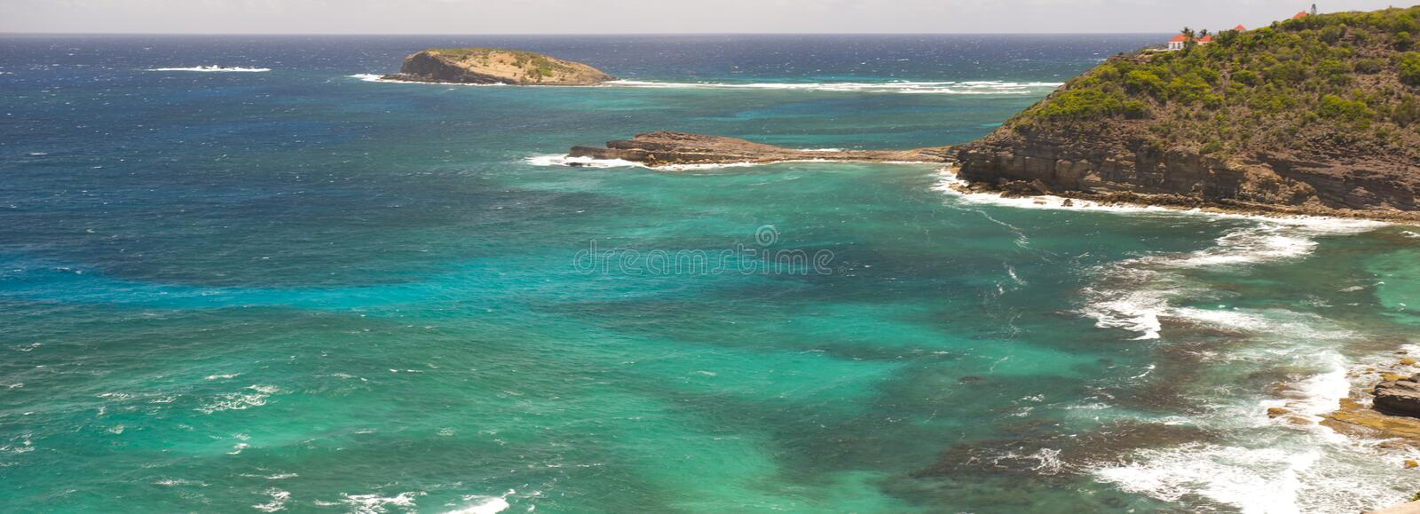 St. Barth Island, Caribbean sea royalty free stock photo
