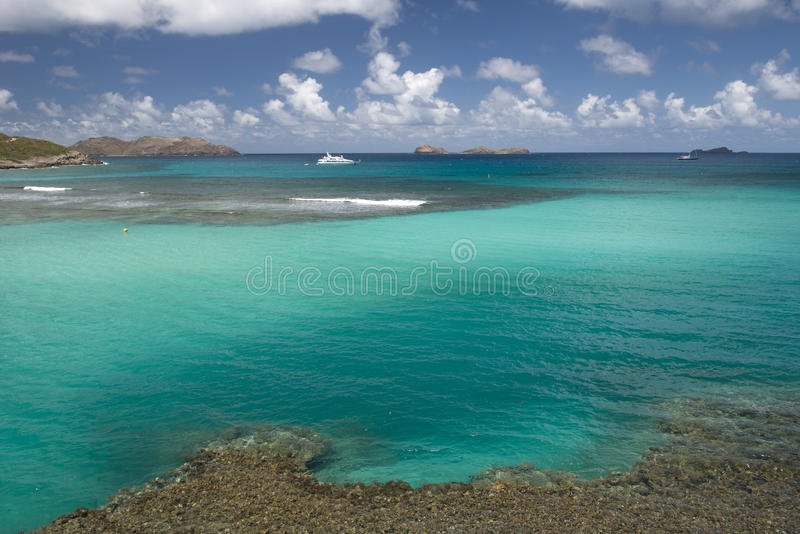 St. Barth Island, Caribbean sea royalty free stock image