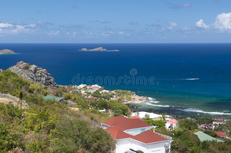 St Barth wyspa, morze karaibskie fotografia stock