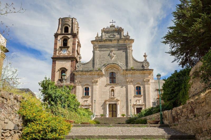 St Bartholomew & x27; catedral de s em Lipari, Itália foto de stock royalty free