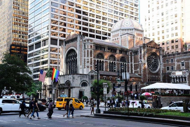 St. Bartholomew Church in New York City lizenzfreie stockfotografie