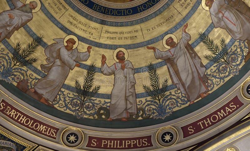 St Bartholomew, St Philip, St Thomas stock foto