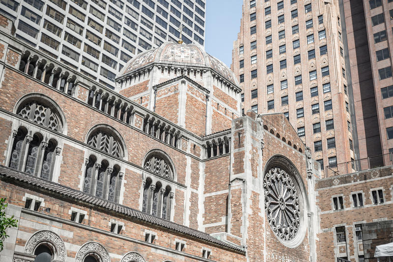 St. Bartholomew's Episcopal church relief in New York. St. Bartholomew's Episcopal church, New York, USA stock image