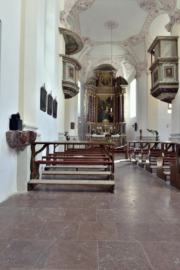 St Bartholomew ` s kościół, Königssee, blisko Berchtesgaden fotografia royalty free