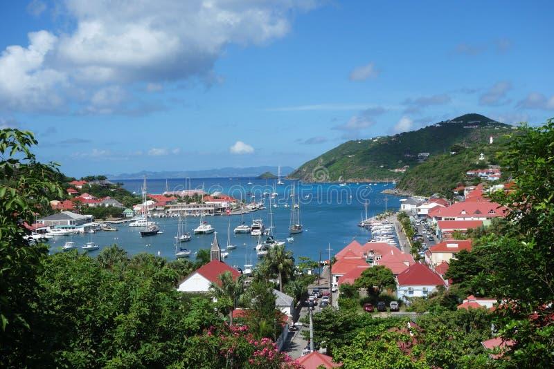 Porto di Gustavia, st Barths, francese le Antille fotografia stock