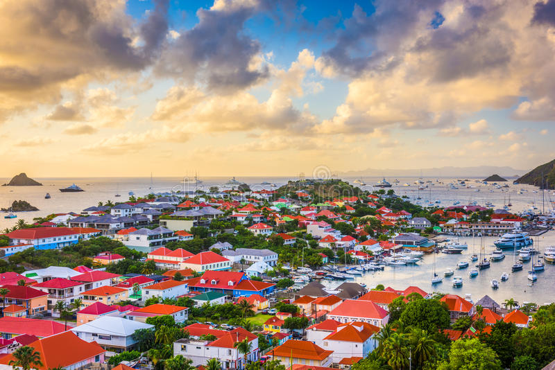St Barts dans les Caraïbe images stock