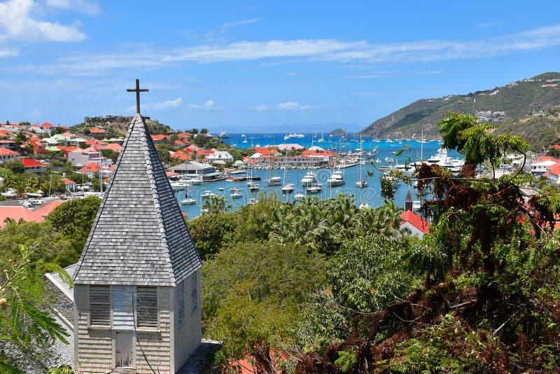 St Barts Gustavia, franska västra Indies royaltyfri bild