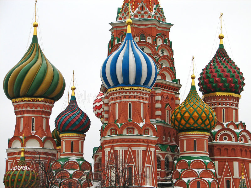 Download St. Basil Cathedral stock image. Image of capital, brick - 470813