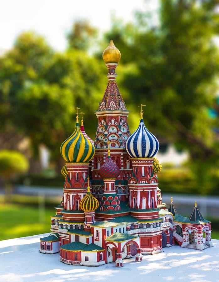 St Basil Cathedral de reproduction à Moscou photos stock