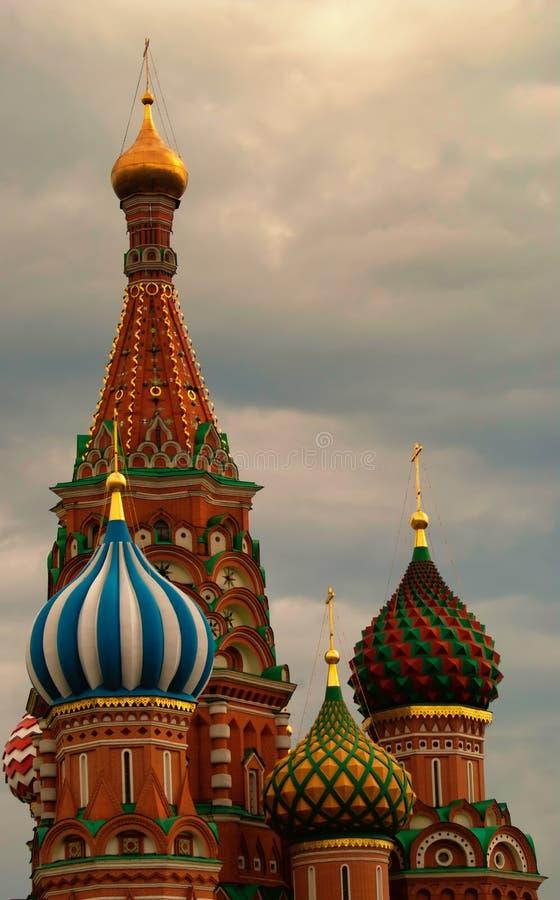 St. Basil Cathedral em Moscou imagem de stock