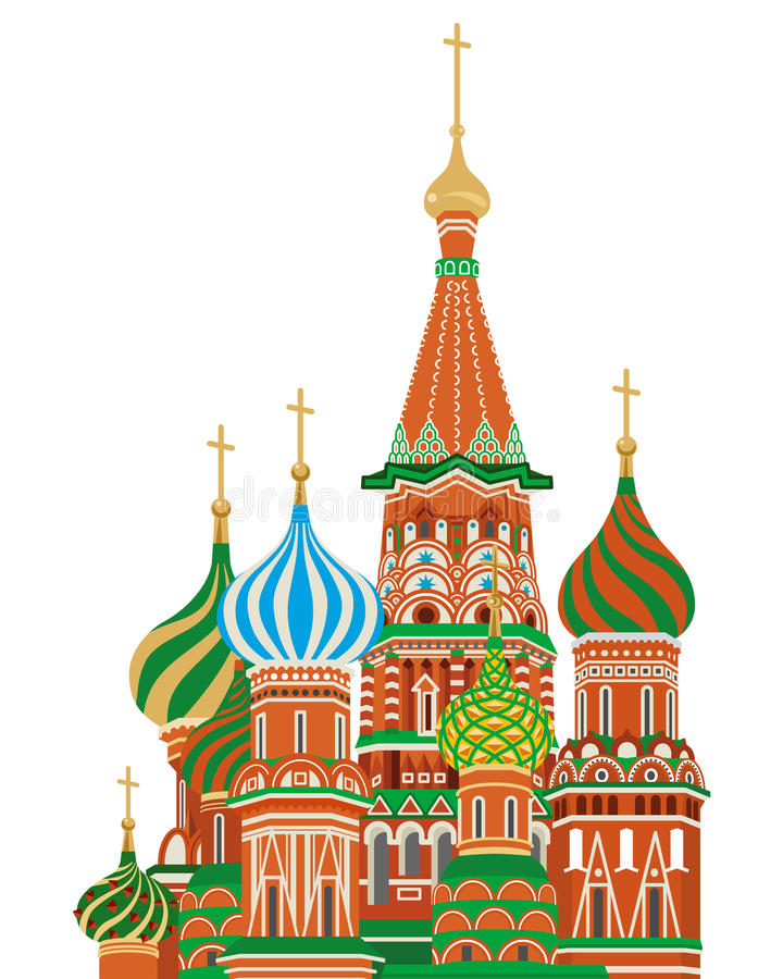 Download St. Basil Cathedral,Isolated Stock Vector - Image: 34498514