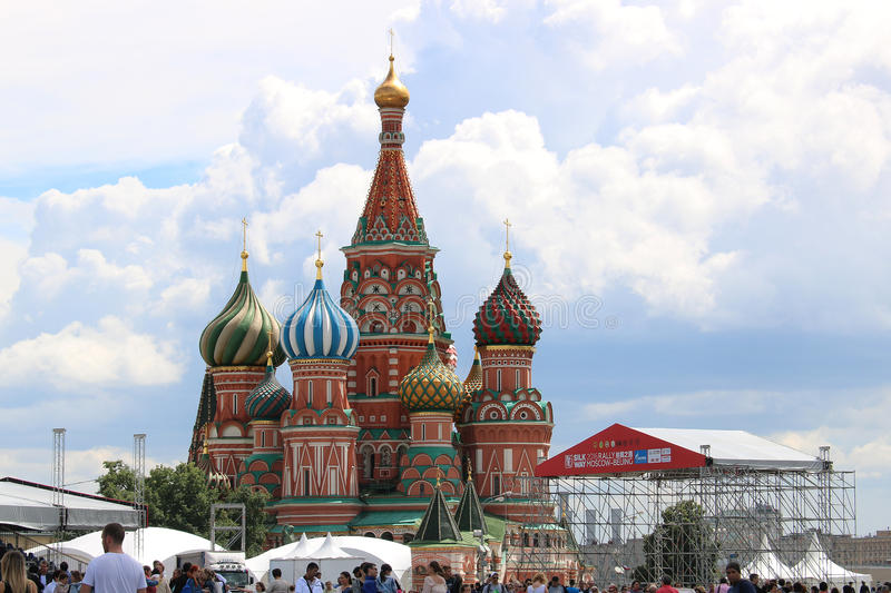St Basil Cathedral Kremlin Moscow Russia royaltyfri bild