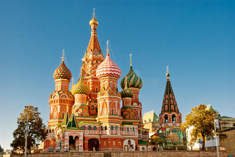 St Basil Cathedral, Mosca fotografia stock