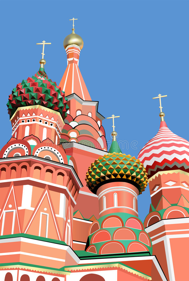 Download St. basil cathedral moscow stock vector. Image of construction - 5007760