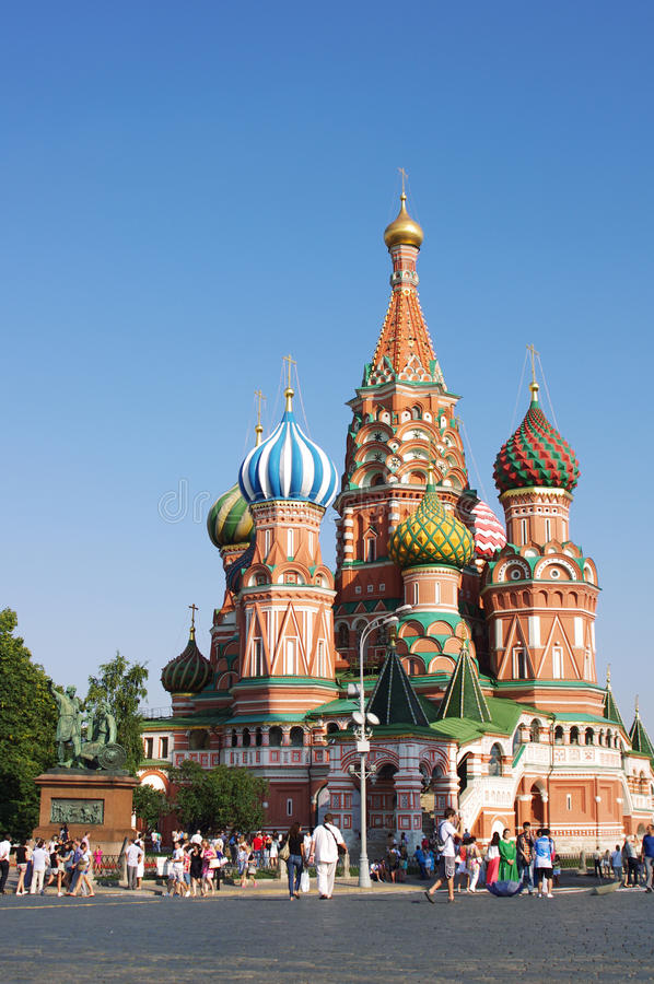St Basil Cathedral In Moscow stock foto's