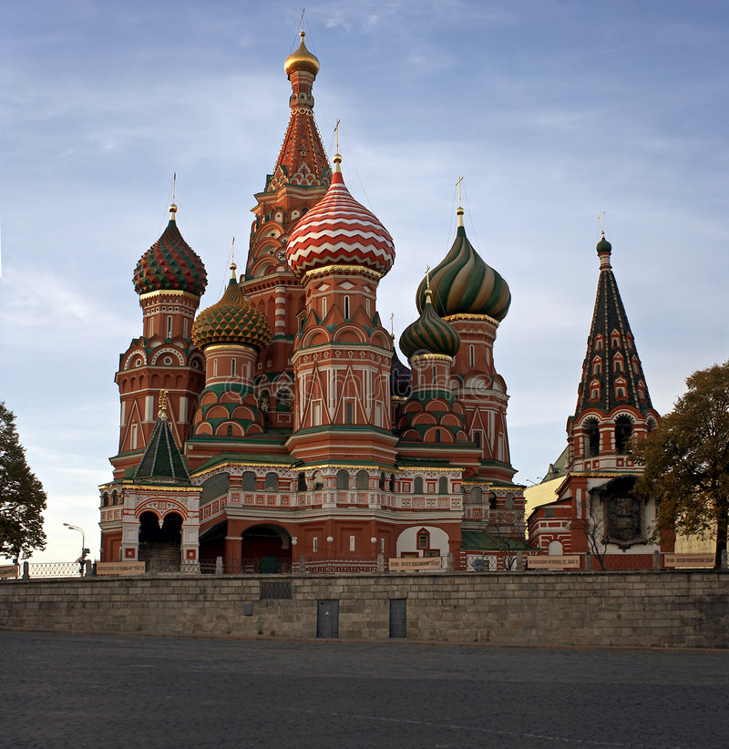 St. Basil Cathedral in Moscow, Russia stock image