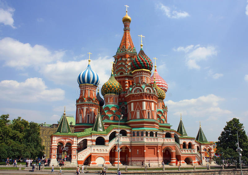 Download St. Basil Cathedral In Moscow Stock Photo - Image of basil, people: 37384026