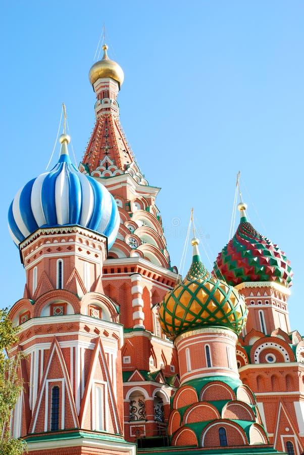 St.Basil kathedraal in Moskou. royalty-vrije stock fotografie