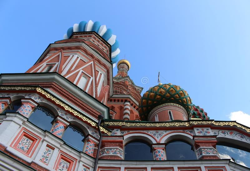 St. Basil's Cathedral in Moscow on Red Square royalty free stock photo