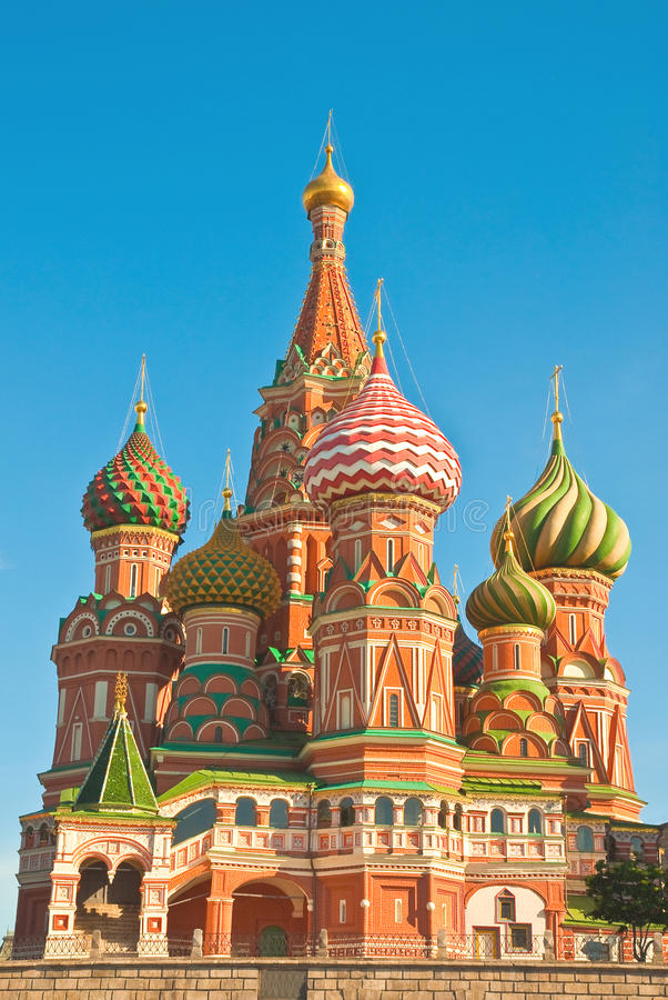 St. Basil's Cathedral on Red Square, Moscow royalty free stock photo
