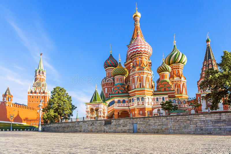 Download St. Basil`s Cathedral On Red Square In Moscow Stock Image - Image of landmark, bright: 94840705