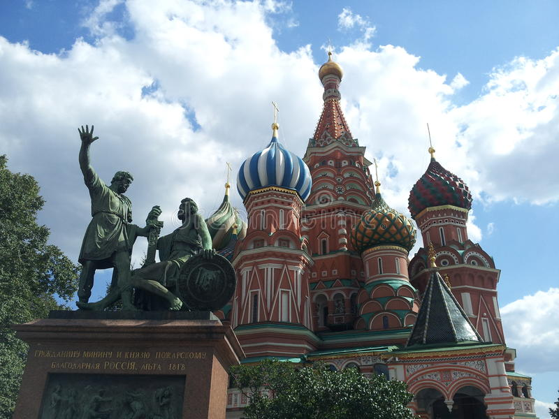 St. Basil's Cathedral, Red Square, Moscow, Russia royalty free stock image