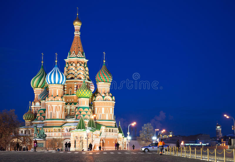 Download St. Basil's Cathedral At Red Square In Night Editorial Stock Photo - Image: 24193138